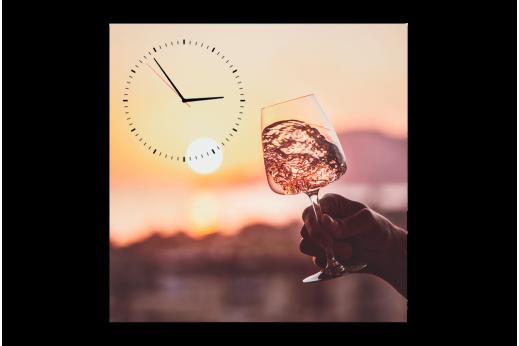 Картина-часы Бокал