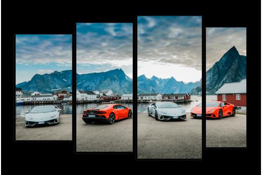 Модульная картина Lamborghini Evo
