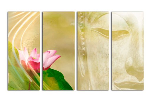 Модульная картина Золотой Будда