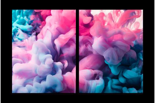 Модульная картина Розовая дымка